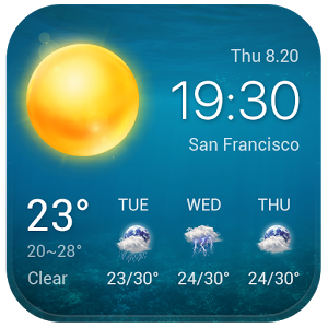 Local Weather Widget &Forecast - A free android weather widget is here waiting for you! This free android weather widget, is simple and easy-to-use. You can not only use this free android widget to get current weather report conveniently, but also 7 day detailed local weather forecasts. This clock and weather widget, definitely your free android weather widget choice in daily life. Real-time temperature, feels like temperature, current clock/time, weather tomorrow, weather in 3 day are all in this weather widget android based on weather server. It's a handy weather guide for you. No matter it is a weather report for weather today, a weather forecast for weather tomorrow and 3 days after, a weather report for current location, or a weather forecast for any other cities in worldwide. You do not need to search 'weather today' 'local weather tomorrow' anymore.Features of this free android weather widget:· Current Weather Info: detailed real-time weather report, including real-time weather and temperature, \