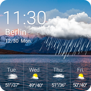 Weather🗻 - ⛅Weather Widget - Mountain⛅🗻Real-time weather, weather forecast & clock widget.🗻🗻 What\'s Weather Widget - Mountain?🗻 Real-Time Weather: Real-time temperature.Weather Forecast: Weather forecasts for 5 days. Clock & Calendar: Useful clock to decorate your desktop.Location: Weather radar helps to choose and save different locations.Weather information & patterns change automatically according to weather condition.🗻Main Features🗻Mountain ThemeScale the heights.UsefulAll useful weather information & weather forecast. ConvenientJust put this weather widget on your desktop & get weather information conveniently.ComprehensiveReal-Time Weather, 5 days weather forecast, clock & calendar...🗻How to Apply Weather Widget - Mountain:🗻Step 1: Download Weather Widget - Mountain and Weather Radar & Forecast app.Step 2: Long press screen & click [Widget].Step 3:Find Weather Widget - Mountain & drag it to your desktop .Notice:This Weather Widget - Mountain needs Weather Radar & Forecast app. Please tap the following link to have it installed:https://play.google.com/store/apps/details?id=com.fotoable.temperature.weatherContact Us:Facebook:https://www.facebook.com/FotoRusInstagram: https://www.instagram.com/fotorus_officialEmail:support@fotoable.comFacebook Guideline:https://m.facebook.com/ads/ad_choicesPrivacy Policy:  http://www.fotoable.com/privacy.html